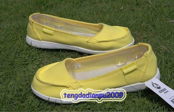 New Crocs� Santa Cruz yellow Women' shoes SZ:W5-W9=EUR35-39
