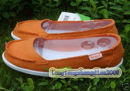 new CROCS� Santa Cruz Women' shoes orange SZ:W5-W9=EUR35-39