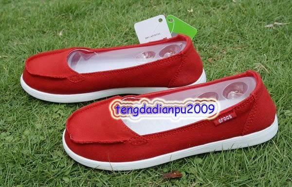 New Crocs� Santa Cruz Women' shoes red SZ:W5-W9=EUR35-39