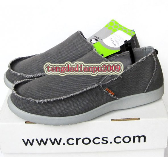 New CROCS� santa cruz dark grey men's shoes sz:M7-M11