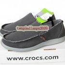 New CROCS™ santa cruz dark grey men's shoes sz:M7-M11
