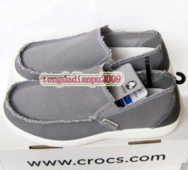 New CROCS� santa cruz gray men's shoes sz:M7-M11