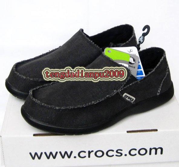 New CROCS� santa cruz black men's shoes sz:M7-M11
