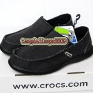 New CROCS™ santa cruz black men's shoes sz:M7-M11