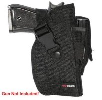 Black Airsoft Gun Holster - Right Side