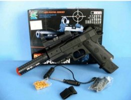 AKA-585 Airsoft Pistol w/ Laser, Scope and Silencer