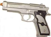 AK887 Silver and Black 9mm Airsoft Pellet Gun