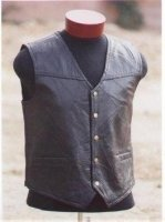 Unisex Patched Leather Vest