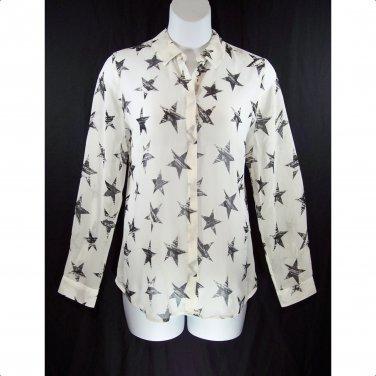Lane Bryant 14/16 Muse Star Long Sleeve Sheer Blouse Top-New