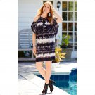 Cato 22/24W Lace Up Cold Shoulder Shift Dress-New