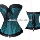 Free shipping sexy Brocade Gorgeous Corset Bustier Lingerie blue
