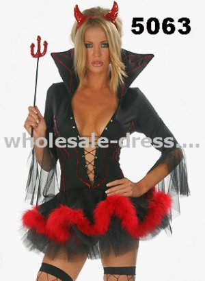 Free shipping sexy costume black