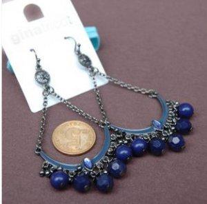 Antiqued Bohemian Art Jewelry Tassel Diamante Alloy Earrings Eardrop
