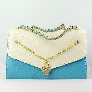 Women's Retro Color Blocking Embellished Casual Tote Handbag Shoulder Bag