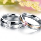 his and hers promise ring sets, Fashion Couple Stainless Steel band Rings For Lovers Gift idea