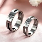 his and hers promise ring sets, Fashion Couple Stainless Steel star band Rings For Lovers Silver