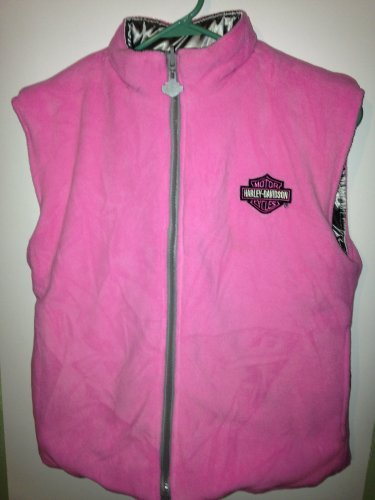 Girls 7/8 or Women's Small Reversible Harley Davidson Vest