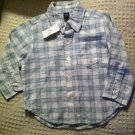 NWT Baby Gap 18-24m Linen & Cotton Long Sleeve Button Shirt