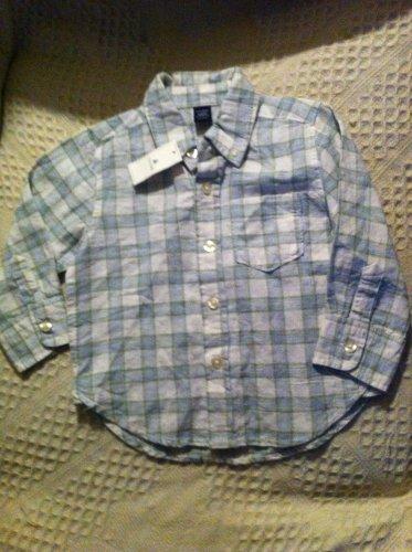 NWT Baby Gap 18-24m Linen & Cotton Long Sleeve Button Shirt