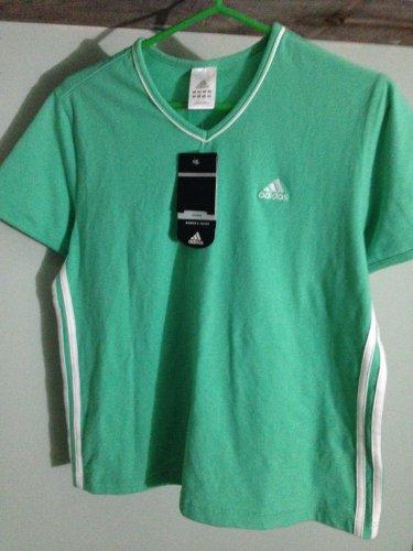 Women's Adidas Top NWT green / white