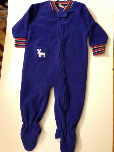 LL Bean Infant 12/18 month Footed Sleeper Pajamas Thick Fleece