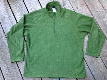 Men's XL Patagonia Capilene Green Pullover Free Ship