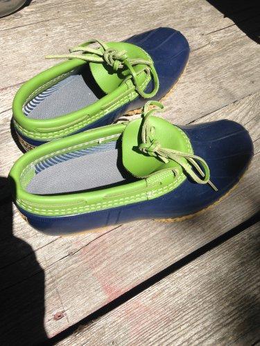 Bean Boots by LL Bean Blue Green Adult 10W USA made