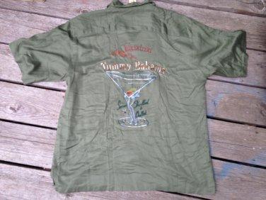 NWT 110.00 Men's Tommy Bahama Silk  Poker Pirate Camp Shirt Bikinitini