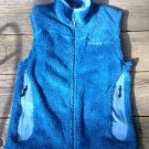 Womens Medium Fuzzy Blue Patagonia Vest  Polartec