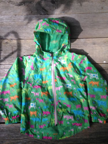 Girls Toddler size 4 LL Bean Rain Jacket Coat