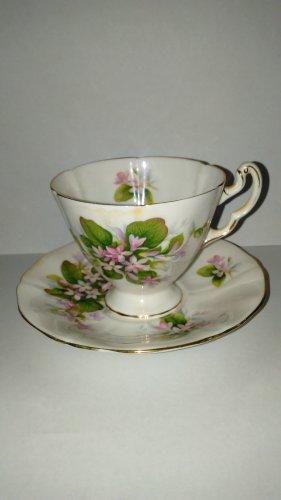 Royal Adderley Fine Bone China Cup & Saucer Mayflower