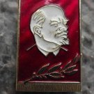 Lenin on Draped Flag with Tasselled Edges Soviet Union Commemorative Badge