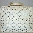 Christian Dior Croisette Calfskin Bowler Handbag Ivory