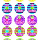 Cheer Dance Gymnastics Digital Bottlecap Images 1 Inch Circle