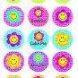 Flower Smiley Face Digital Bottlecap Images 1 Inch Circle