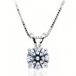 1cttw diamond pendant in 14k white gold