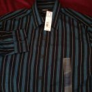 Blue stripe mens liz claiborne shirt