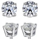 2cttw diamond stud earrings