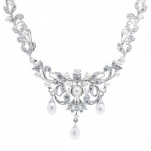2cttw diamond and pearl necklace