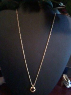 Gold Garnet Necklace