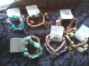 Double strand bracelet with earrings