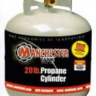 NEW BBQ GRILL PROPANE TANK 20LB 20 LB MANCHESTER LP GAS OPD OVER FILL GENERATOR