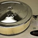 "HOLLEY 14 INCH AIR FILTER CLEANER FOR IMPCO CT425 425 14"" CHROME 5-1/8 CFM HP"
