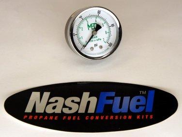 MARSHALL EXCELSIOR HIGH PRESSURE GAUGE DIAL 0-100 PSI PROPANE AIR NPT COMPRESSOR