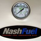 MARSHALL HIGH PRESSURE BACKMOUNT GAUGE DIAL 0-400 PSI PROPANE AIR NPT COMPRESSOR