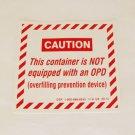 OPD VALVE EXEMPTION RULE PROPANE DECAL LABEL STICKER EMBLEM SAFETY SAFE WARNING