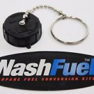 "BLACK 1-3/4"" ACME FILL VALVE CAP COVER WITH TETHER CHAIN ANHYDROUS SERVICE"