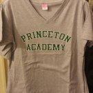 "Large Women's Gray ""PRINCETON ACADEMY"" V-neck"
