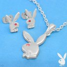 Authentic Playboy Necklace & Earrings Set