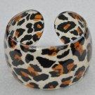 Lucite Leopard Cuff Bracelet